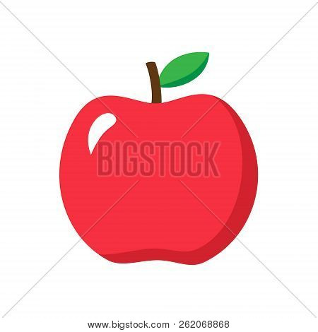 Apple Vector Illustration Red Apple