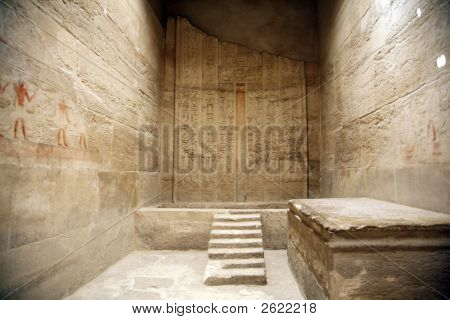 Picture or Photo of Ancient egyptian room inside a temple in egypt