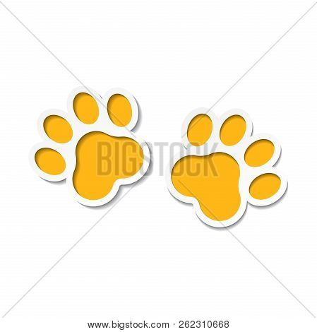 92294d2523ec Poster of Paw Print Vector Icon. Dog Or Cat Pawprint Illustration. Animal