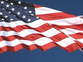 stock photo of usa flag  - Close - JPG