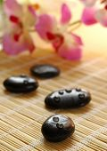 Black stones, shallow depth of field