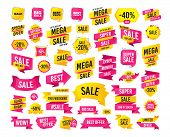 Sales Banner. Super Mega Discounts. Sale Icons. Best Choice And Price Symbols. Big Sale Shopping Sig poster