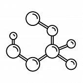 Molecule Formula Icon. Outline Illustration Of Molecule Formula Vector Icon For Web Design Isolated  poster