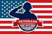 Usa Veterans Day Concept Background. Flat Illustration Of Usa Veterans Day Vector Concept Background poster
