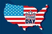 American Veterans Day Concept Background. Flat Illustration Of American Veterans Day Vector Concept  poster
