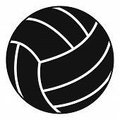 Black Volleyball Ball Icon. Simple Illustration Of Black Volleyball Ball Icon For Web poster