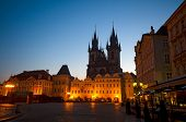 Old Town Square at night (Staromestske Namesti), Prague, Czech Republic