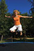 Young Girl Jumping, Jump