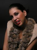 image of budge  - Young woman in fur - JPG