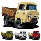 Vector cartoon 4x4 pickup one-click repaint