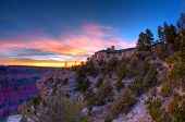 picture of grand canyon  - Grand Canyon Lodge at sunset - JPG