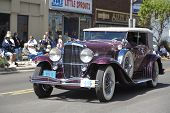 AUBURN, IN - SEPTEMBER 4: Duesenberg Classic Cars at the Annual Classic car parade on September 4, 2