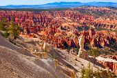 Beautiful view of Bryce Canyon, Utah showing unique rock formations