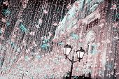 One Of Old Streets, It Is A Very Popular Pedestrian Street In Historical Center Of Moscow. Night Vie poster