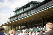 Stands at Keenland Racetrack in Lexington Kentucky