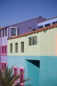 Colorful buildings of La Placita in downtown Tucson, AZ