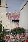Fans stream into Ohio Stadium to see the Buckeyes play football