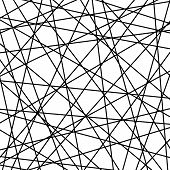 Geometric Black And White Vector Abstract Pattern. Geometric Modern Ornament For Designs And Backgro poster