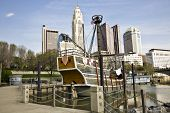 Columbus, Ohio with the Santa Maria in the foreground