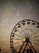 Vintage ferris wheel at the Ohio State Fair