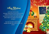 picture of cozy hearth  - Festive Xmas Interior - JPG