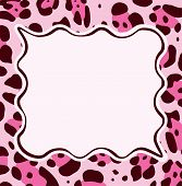 vector Frame With Abstract Leopard Skin Texture