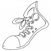 Shoes. Vector Illustration Sport Shoes. Hand Drawn Running Shoes. Funny Gumshoes. poster