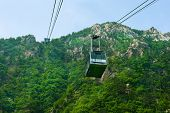 aerial ropeway of Seorak-san National Park, South korea