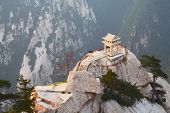 stone pagoda on the East Peak of the holy mountain Huashan, Xian, China
