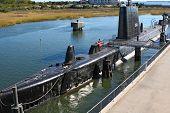 submarine USS Clamagore docked at Patriot's Point Naval & Maritime Museum, Charleston, South Carolina, USA