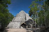 Xaibe mayan pyramid in Coba, Mexico