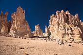 Rock cathedrals in Salar de Tara, Los Flamencos National Reserve, Chile poster