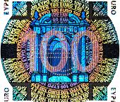 hologram on the one hundred Euro banknote