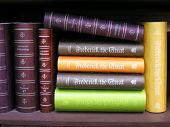 stock photo of annal  - Antique books on bookshelf - JPG