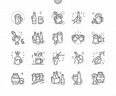 Craft Beer Well-crafted Pixel Perfect Vector Thin Line Icons 30 2x Grid For Web Graphics And Apps. poster