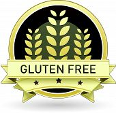 stock photo of pesticide  - Gluten free food label - JPG