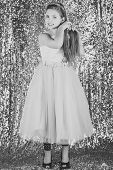 Prom Dress On Pretty Small Girl. Prom, Party, Celebration poster