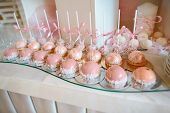 Delicious Wedding Reception Candy Bar Dessert Table. Catering. Buffet Party Concept. poster