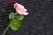 Постер, плакат: Вьетнамской войны Мемориальная стена