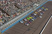 AVONDALE, AZ - NOV 14: The NASCAR Nationwide Series teams take to the track for the Able Body Labor