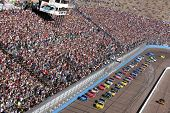 AVONDALE, AZ - NOV 15: The NASCAR Cup Series teams take to the track for the Checker O'Reilly Auto P