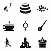 Spiritual Icons Set. Simple Set Of 9 Spiritual Icons For Web Isolated On White Background poster