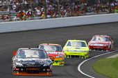 INDIANAPOLIS, IN - JULY 25: Denny Hamlin (11)  during race action for the Brickyard 400 race at the
