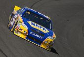 FONTANA, CA - OCT 08, 2010:  Martin Truex, Jr. brings his NAPA Chevrolet through the turns during a