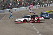 FORT WORTH, TX - NOV 06:  Brad Keselowski clinches the Series title as Carl Edwards wins the O'Reill