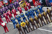 INDIANAPOLIS, IN - JULY 31:  The NASCAR Sprint Cup Series teams take to the track for the 18th annua