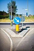 Vertical Signal Near Roundabout