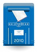 detailed isolated vector oldstyle mailbox