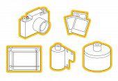 icon set of photo equipment