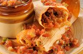 Beef Tamales And Salsa